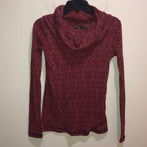 Prana Size XS Pink Long Sleeve Turtleneck Thermal